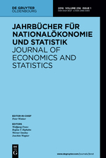 Cover Journal of Economics and Statistics